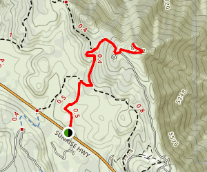 Monument Peak Trail Map