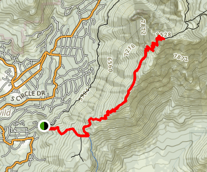 South Ridge Trail to Tahquitz Peak Map