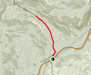 South Fork of the Tuolumne Trail Map