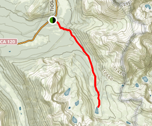 Mono and Parker Pass Trail to Spillway Lake Map