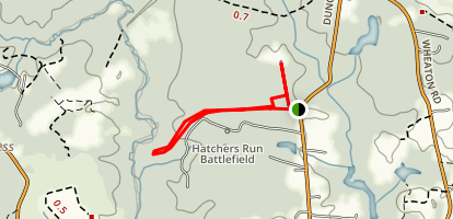 Hatcher's Run Battlefield Trail Map