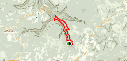 Collins Gulf and Stagecoach Road Historic Trails Map