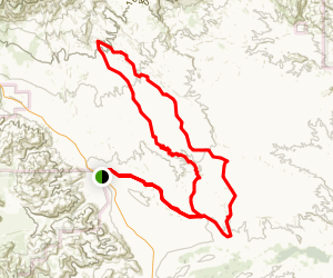 Arroyo Tapiado & Arroyo Seco del Diablo Loop Trail Map