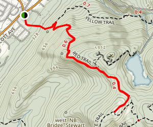 South Beacon Mountain via Casino Trail Map