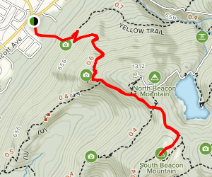 South Beacon Mountain via Casino Trail (Red) Map