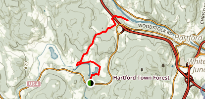 Quechee Road Across the Watershed Map