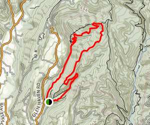 The Medicine Buddha Loop Trail [PRIVATE PROPERTY] Map