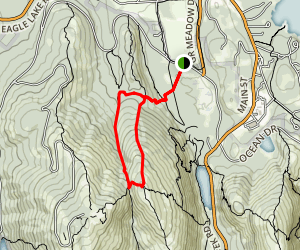 Dorr Mountain North Ridge Trail to Gorge Path Loop Map