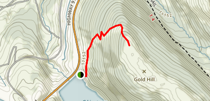 Gold Hill from Clinton Gulch Dam Map