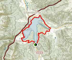 Dillon Reservoir Loop Map