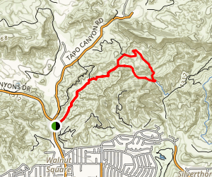Tapo Canyon Trail Map