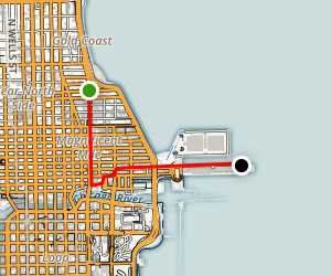 Magnificent Mile And Navy Pier Chicago Map
