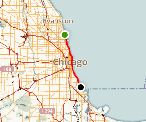 Chicago Lakefront Trail Map