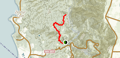 Tahoe Rim Trail (TRT): Daggett Pass to Genoa Peak Map