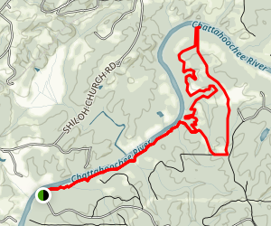 Chattahoochee Bend Riverside-Bend Trail Map