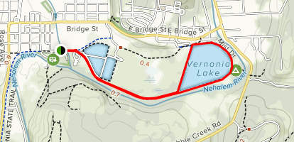 Banks-Vernonia Trail Extension to Vernonia Lake Map