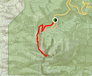 Wheeler Peak Trail via Stella Lake Trail Map