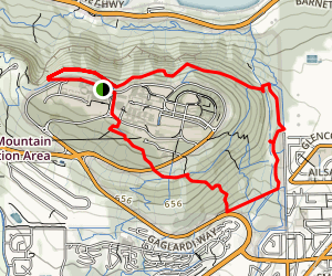 Simon Fraser University Loop Trail MTB Map