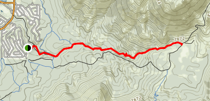 Cold Creek Trail to High Meadows Map