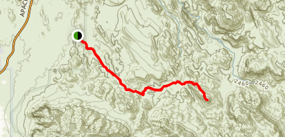 Black Top Mesa Trail Map