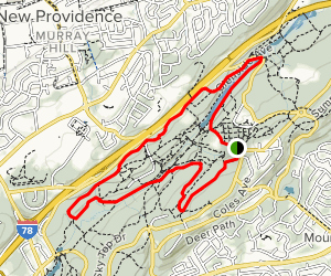 Watchung Reservation History Trail Map