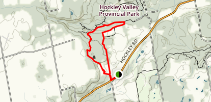 Hockley Valley and the Tom East Side Trail Map