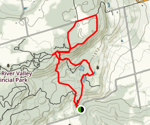 Pretty River Park Hiking Trails  Map