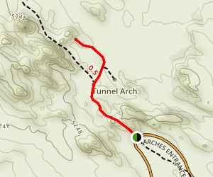 Pine Tree Arch Trail Map