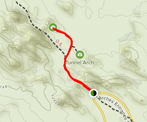 Pine Tree Arch Trail and Tunnel Arch Trail Map