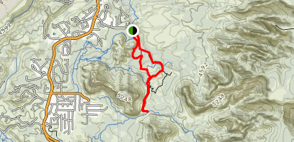 Broken Arrow Trail Map