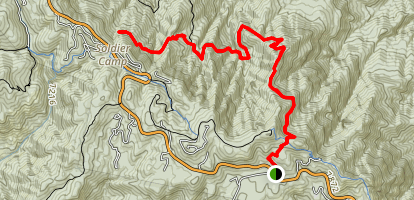 Butterfly Peak Trail from Palisade Ranger Station Map