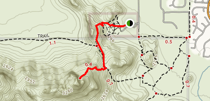 Safford Peak Trail Map