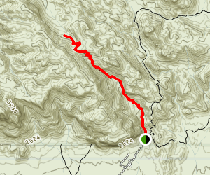 Peralta Trail to Fremont Saddle Map