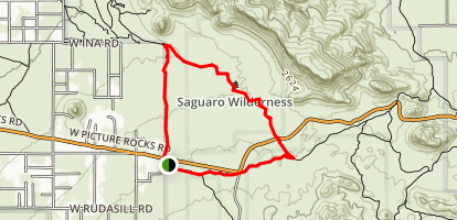 Panther Peak Wash - Roadrunner Loop Map