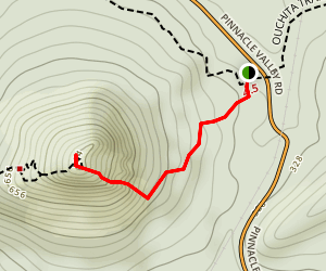 Pinnacle Mountain East Summit Trail Map
