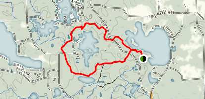 Crooked Lake Trail Map