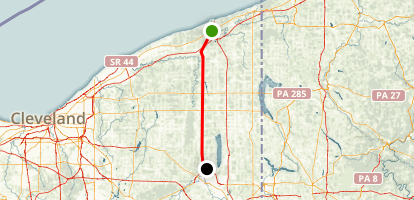 Western Reserve Greenway Trail Map