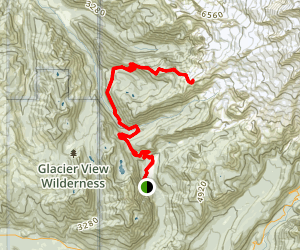 Aurora Peak Trail Map