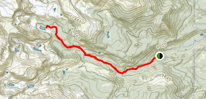 Thunder Lake Trail Map