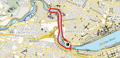 Charles River Southwest Corridor Trail Map