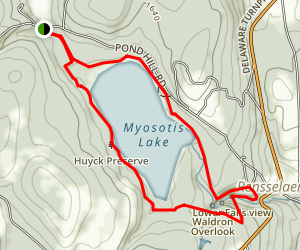 Myosotis Lake Trail Map