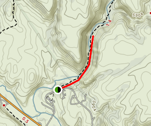 Middlefork (Lightfeather) Hot Springs Trail Map