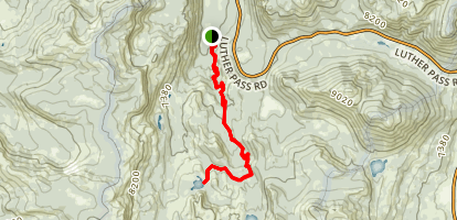 S. Upper Truckee to Dardanelles Map