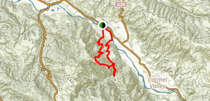 Garzas Canyon Loop Map