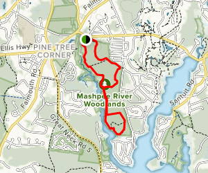 Mashpee River Woodlands West Side Trek Trail Map
