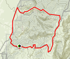 Antelope Spring Loop Trail Map