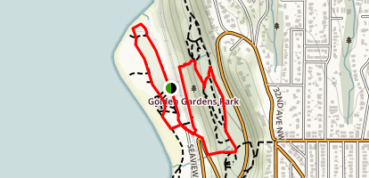 Golden Gardens Trail Map