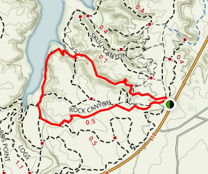 Rock Canyon Broken Hip Loop Trail Map