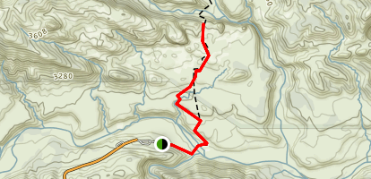 Piedra Blanca Formations Trail Map