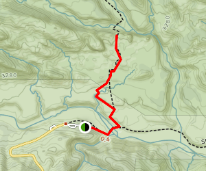 Piedra Blanca Formations Trail (CLOSED) Map